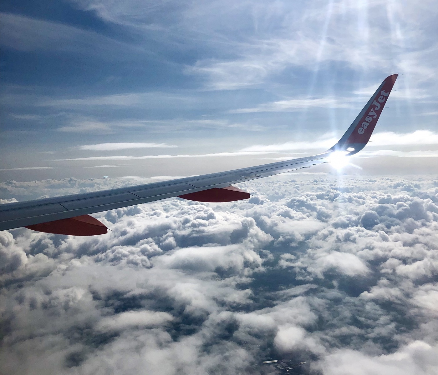 Glasgow -> Birmingham above the clouds