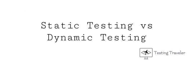 Static Testing vs Dynamic Testing image