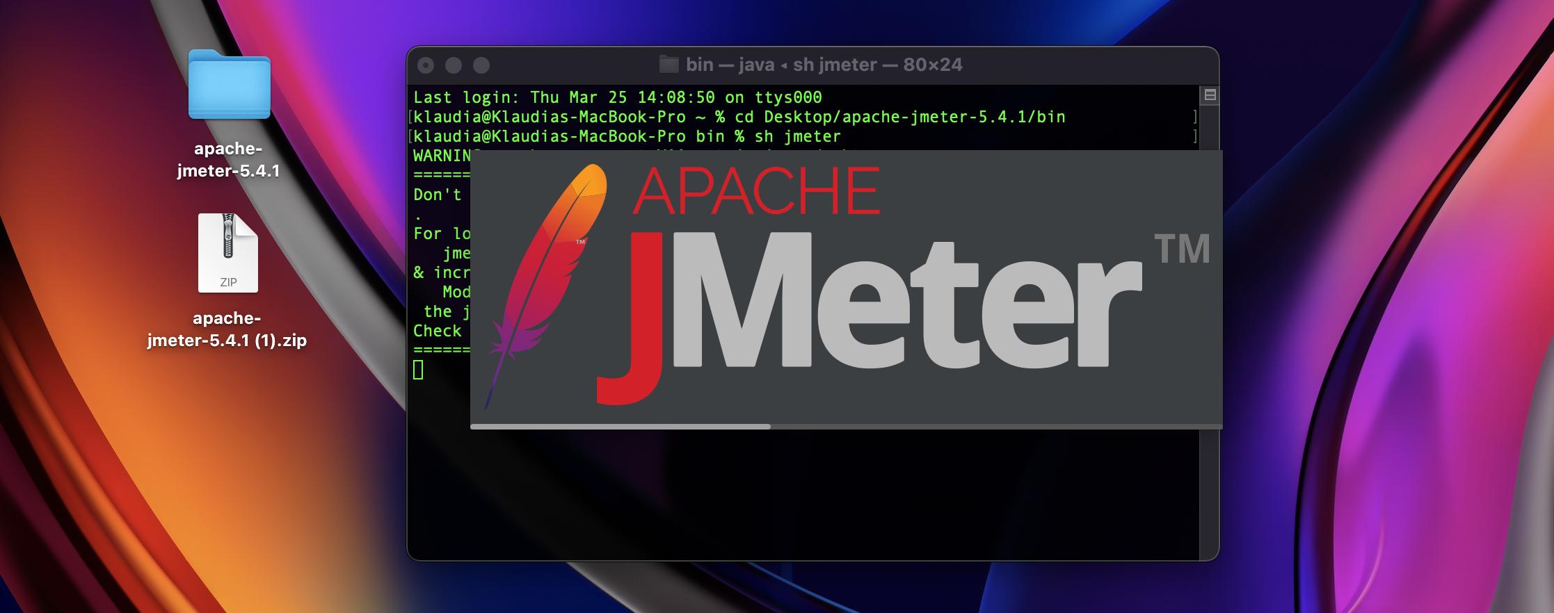 JMeter has been run.