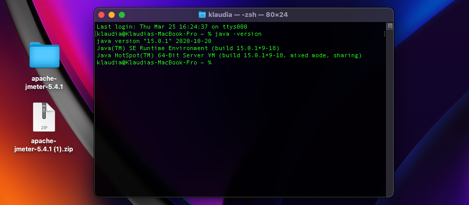 We can see the java version in terminal.