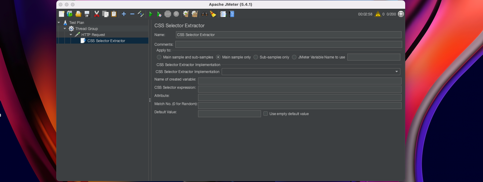 Example of Post-Processor - CSS Selector Extractor