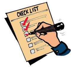 Check-list based testing image